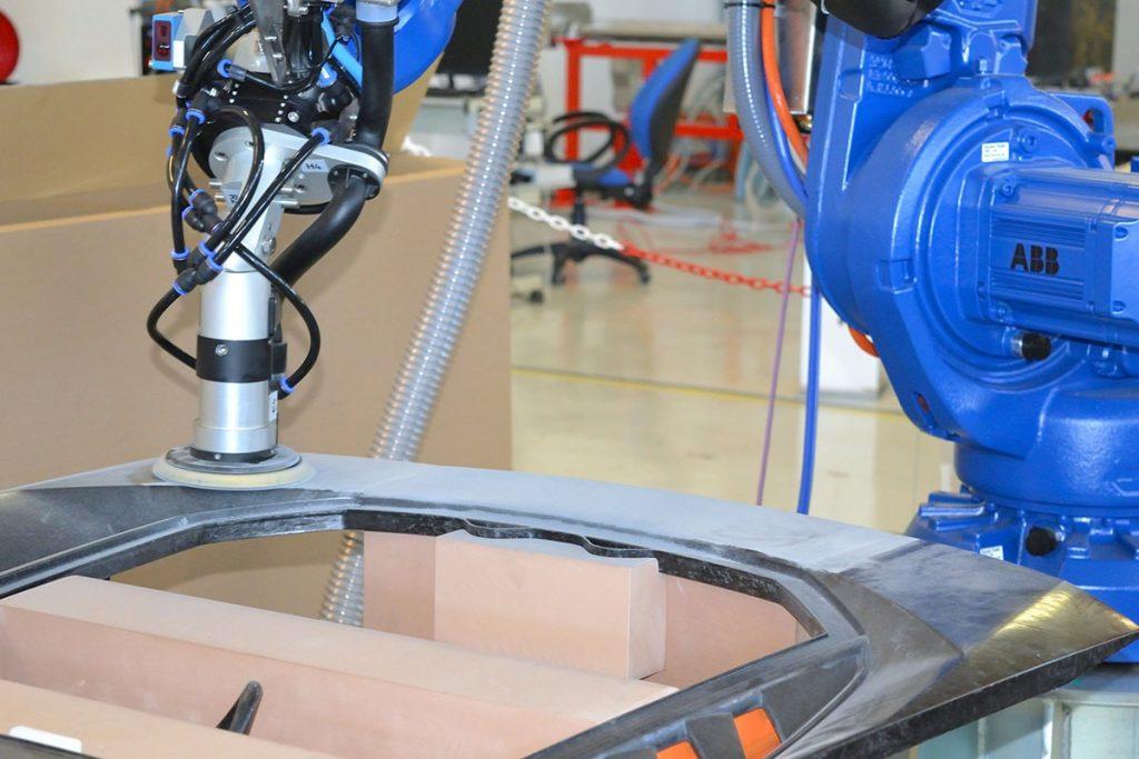 Sanding Carbon Fiber Automobile part