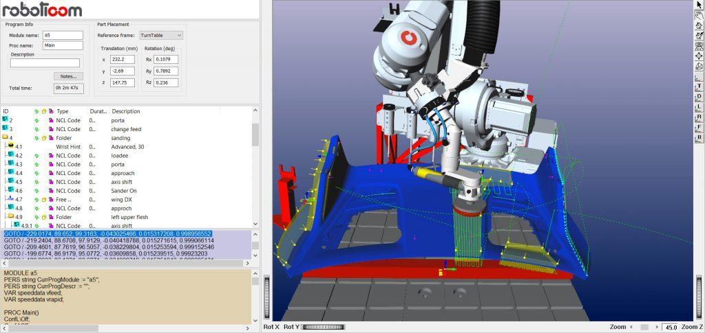 Sanding and Polishing – ARPP offline Programming and simulation software