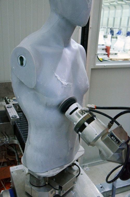 Robotic Sanding of Plastic Mannequin